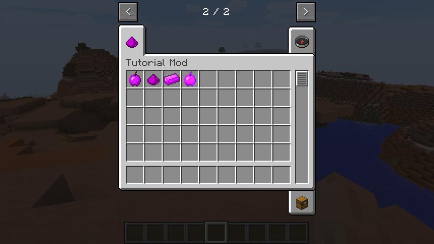 Custom CreativeTab with all of the items we created